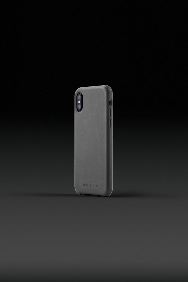 Mujjo Leather Case iPhone X Gray