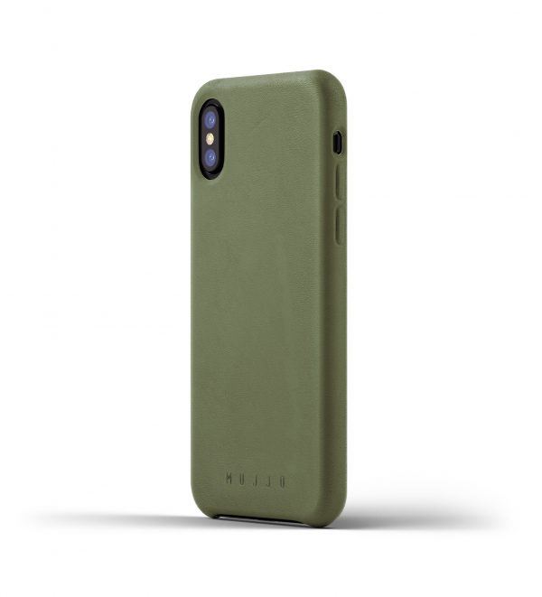 Mujjo Leather Case iPhone X Olive