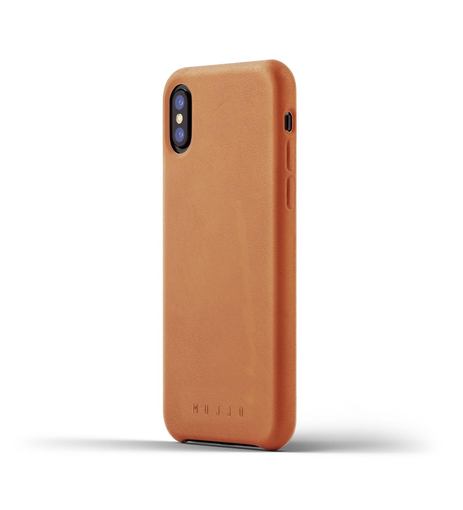 Mujjo Leather Case iPhone X Tan