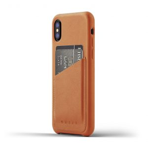 Mujjo Full Leather Wallet Case for iPhone X - Tan