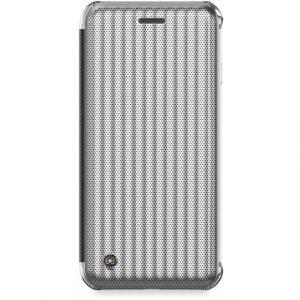 Jet Set Flip Book Case Apple iPhone 7/8 Hoesje Micro Zilver Metallic