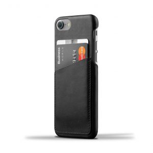 Mujjo Leather Wallet Case iPhone 7 Black