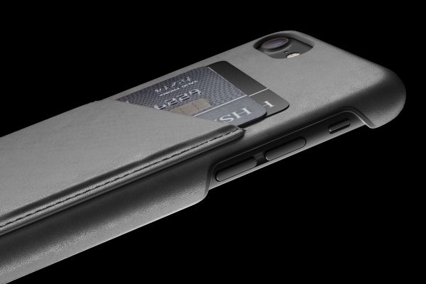 Mujjo Leather Wallet Case iPhone 7 Gray