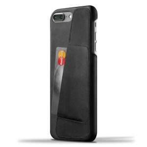 Mujjo Leather Wallet Case iPhone 7 Plus Black