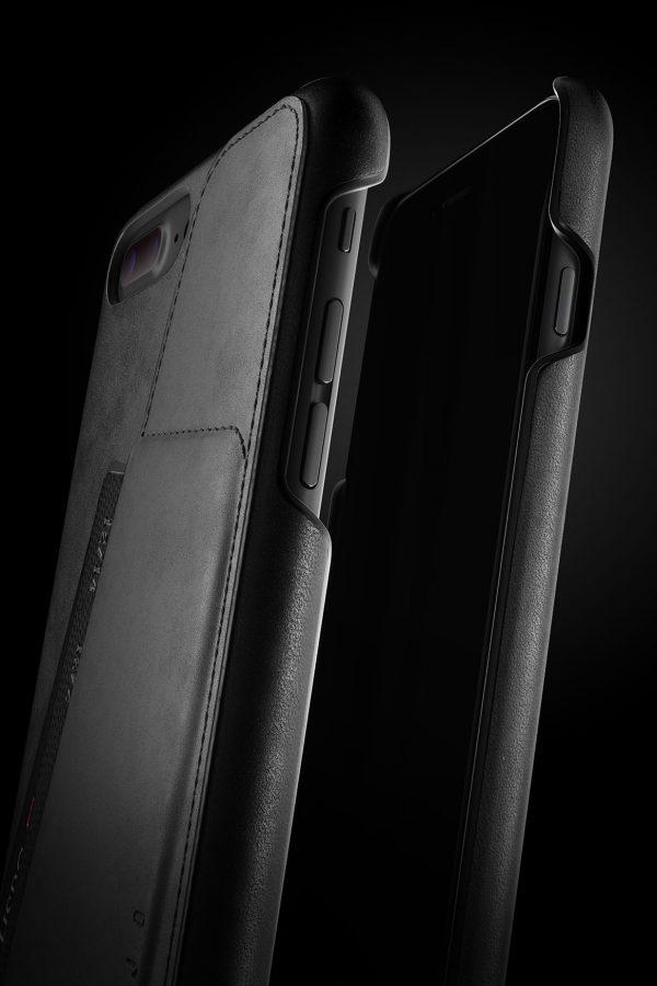 Mujjo Leather Wallet Case iPhone 7 Plus Black