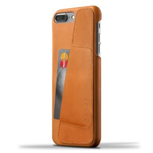 Mujjo Leather Wallet Case iPhone 7 Plus Tan