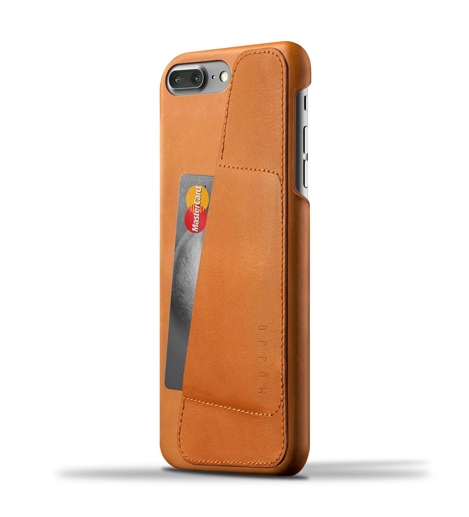 Mujjo Leather Wallet Case iPhone 7 Plus Tan