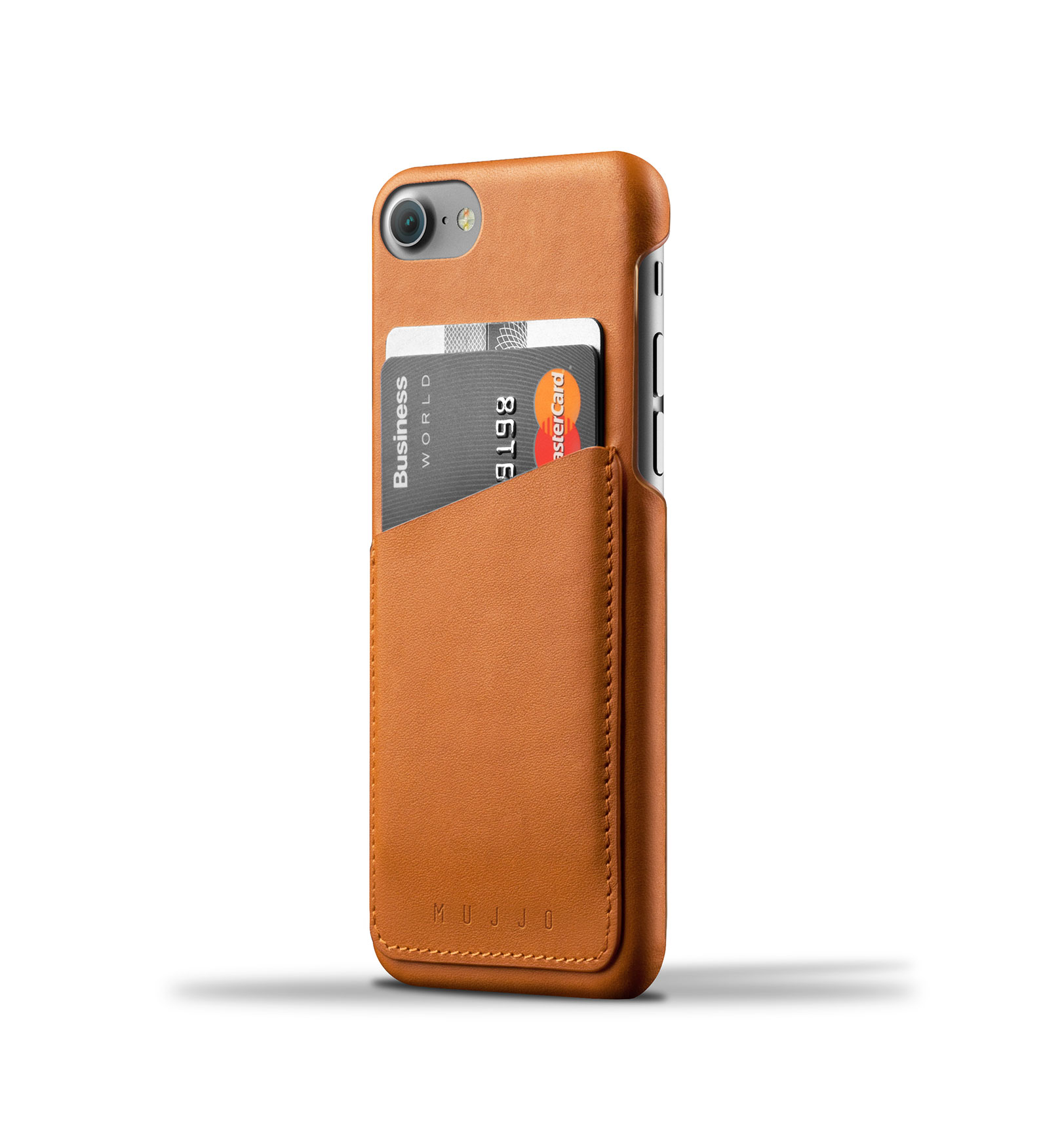 Mujjo Leather Wallet Case iPhone 7 Tan