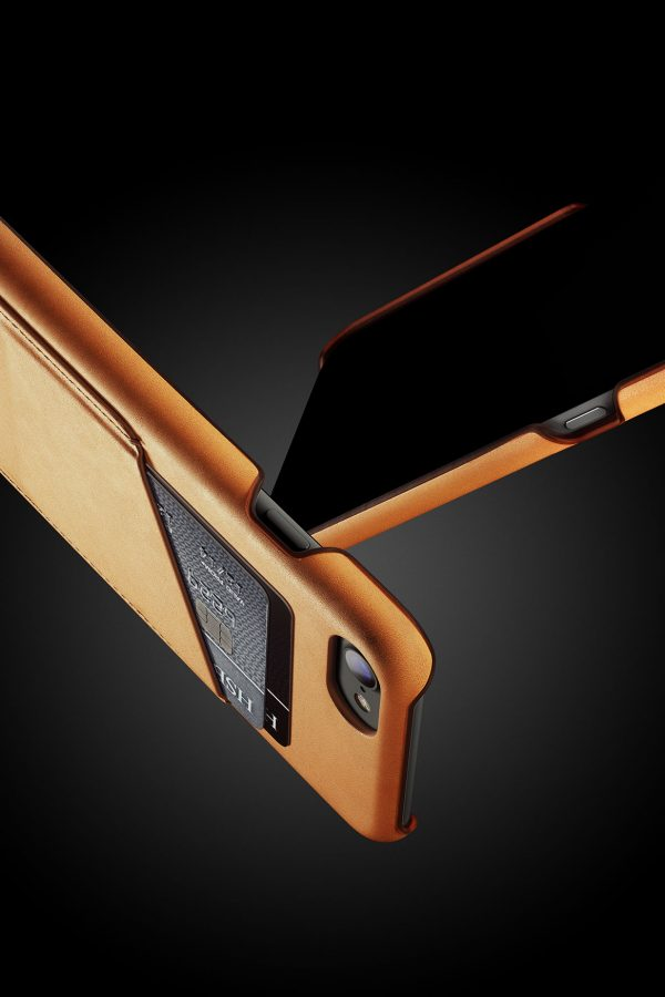 Mujjo Leather Wallet Case iPhone 7 Tan