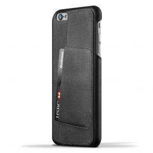 Mujjo Leather Wallet Case 80 Apple iPhone 6 Plus / 6s Plus Black