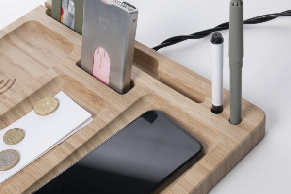 Walter Bamboo Double Dock Charger - Wireless - Walter Wallet