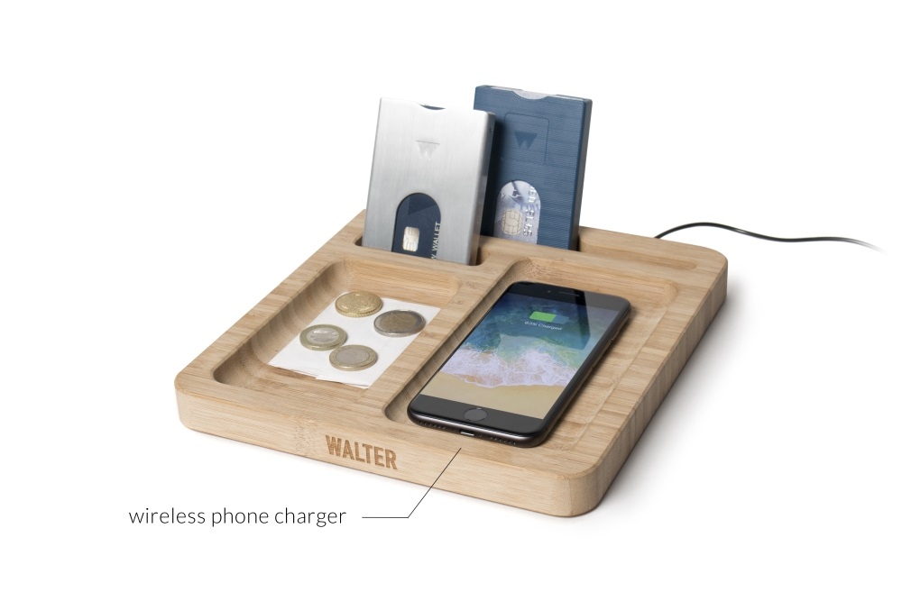Walter Bamboo Dock met Wireless Charger - Walter Wallet
