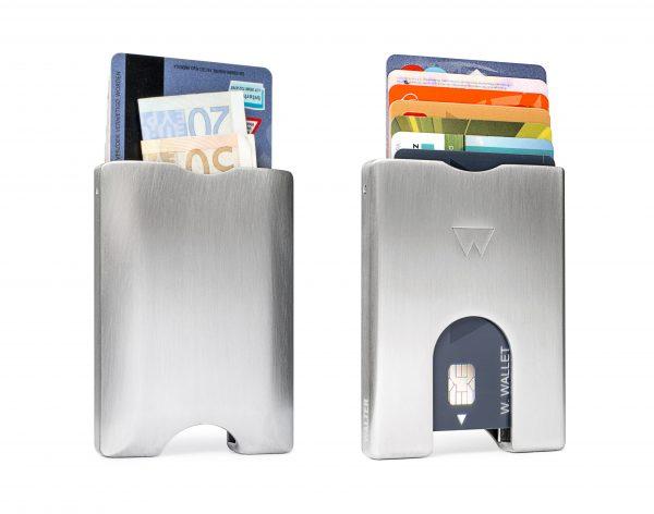 Walter Bamboo Dock met Wireless Charger - Oplaadstation + Aluminium Wallet RAW Combi