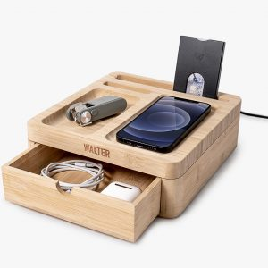 walter-big-dock-bamboo-charger-bureau-oplader-hout
