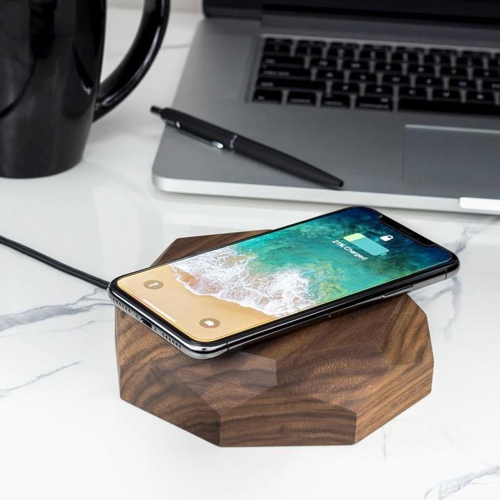 Oakywood Draadloze Oplader Hout Fast Qi Charging 10W - hoesie.nl