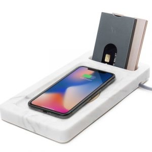 walter marble dock walter wallet draadloos opladen qi fast charge 10w