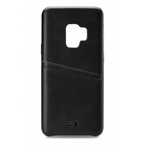 Senza Pure Leather Cover with Card Slot Samsung Galaxy S9 Deep Black