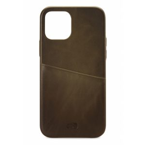 Senza Desire Leather Cover with Card Slot Apple iPhone 12 Mini Burned Olive