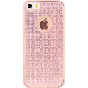 Rock Fla TPU Case Apple iPhone 5/5S/SE Transparent Pink