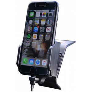 64400 Kram Fix2Car Adjustable Active Holder incl. 2.1A Apple Lightning Car Charger 58-95mm