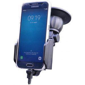 64415 Kram Fix2Car Adjustable Active Holder Window incl. 2.1A Micro USB Car Charger 58-95mm