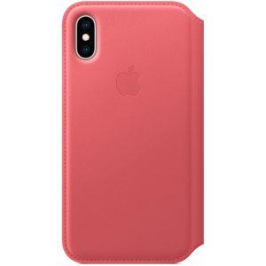MRX12ZM/A Apple Leather Folio Case iPhone Xs Peony Pink
