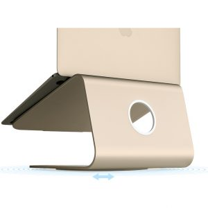 Rain Design mStand 360 Laptop Stand + Swivel Base Gold