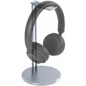 HLS-101 DELTACO Universal Aluminium Headphone Stand Silver