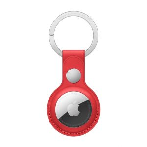 MK103ZM/A Apple Airtag Leather Keychain (PRODUCT) Red
