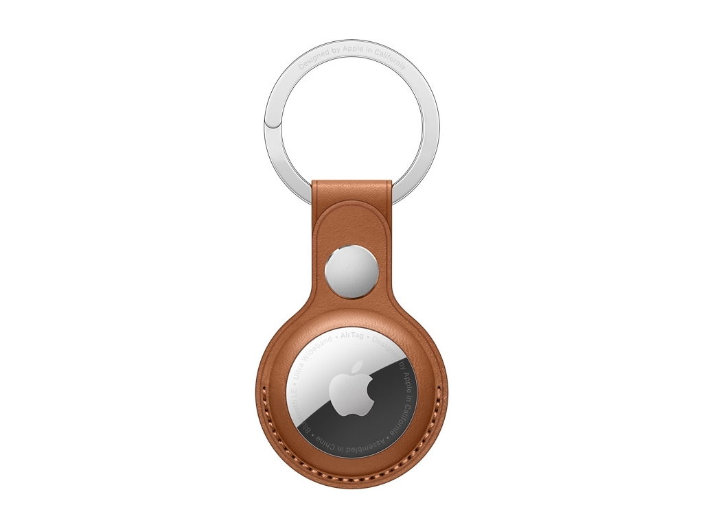 MX4M2ZM/A Apple Airtag Leather Keychain Saddle Brown