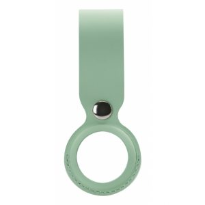 Xccess PU Leather Airtag Loop Light Green